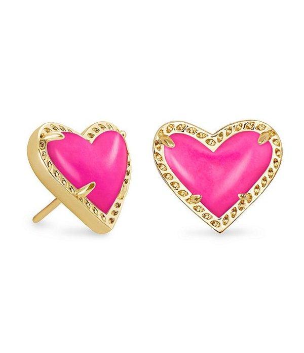 送料無料 サイズ交換無料 セール ケンドラスコット レディース アクセサリー ピアス イヤリング Magenta Magnesite Heart 上品 Ari Stud Earrings Gold