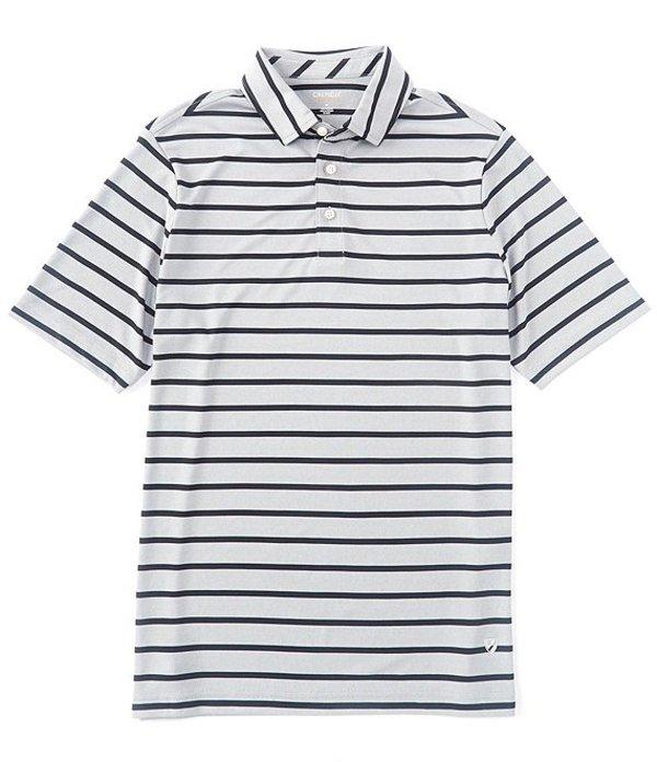 ダニエル クレミュ メンズ シャツ トップス Stripe Pique Performance Comfort Stretch Short-Sleeve Polo Shirt Black