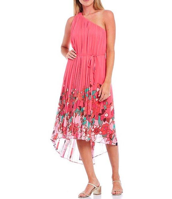 テッドベーカー レディース ワンピース トップス Pinta Print One Shoulder Hi-Low Midi Dress Bright Pink