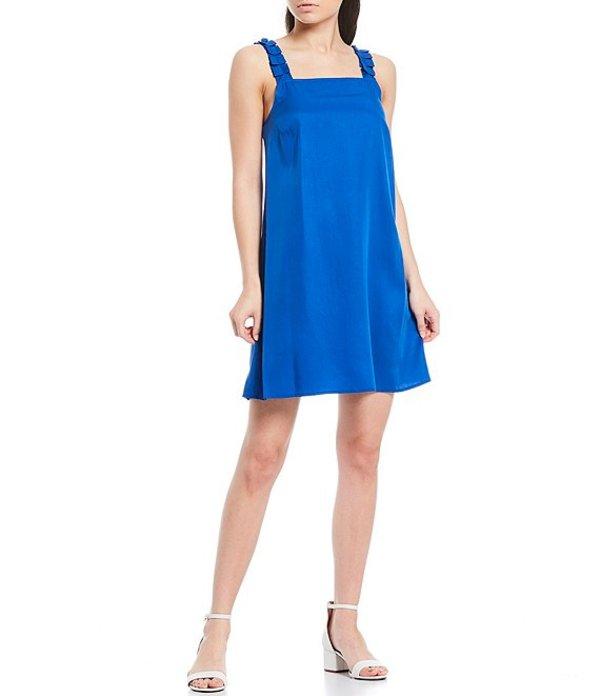 ダニエル クレミュ レディース ワンピース トップス Ash Square Neck Sleeveless A-Line Dress Cobalt