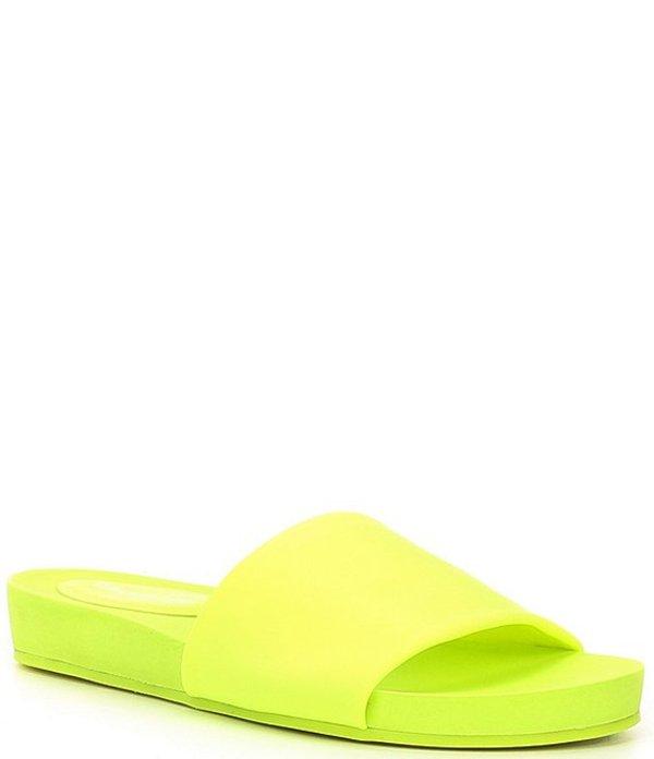 ジャンビニ レディース サンダル シューズ Flippflopp Pool Slides Glow Stick Yellow