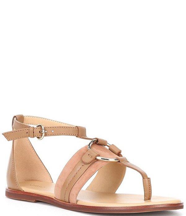 ギブソンアンドラティマー レディース サンダル シューズ Jaylee Circle Ornament Leather Sandals Light Brown