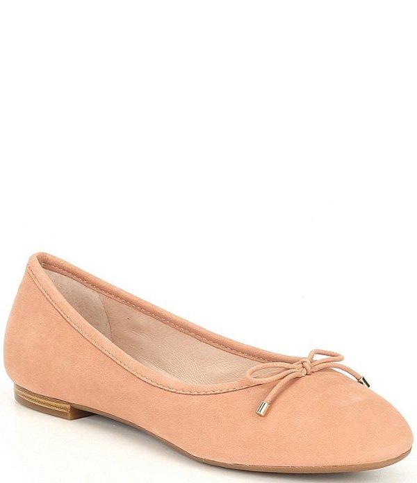 ジャンビニ レディース スリッポン・ローファー シューズ Mariete Suede Ballet Flats Compact Nude
