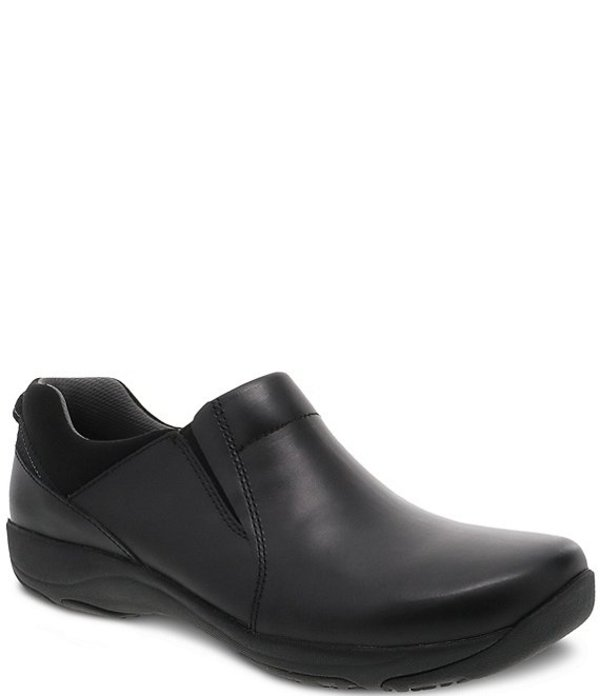 ダンスコ レディース スニーカー シューズ Neci Leather Slip Ons Black Leather