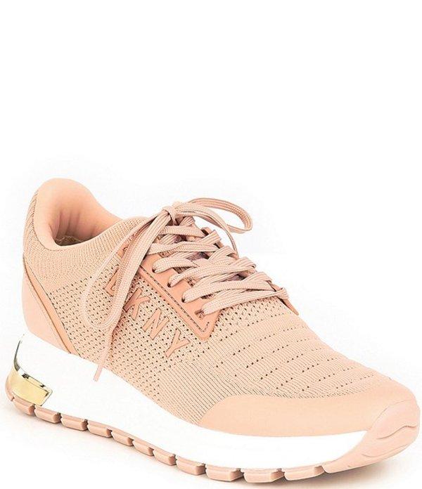 ダナ キャラン ニューヨーク レディース スニーカー シューズ Melz Knit Wedge Sneakers Peach