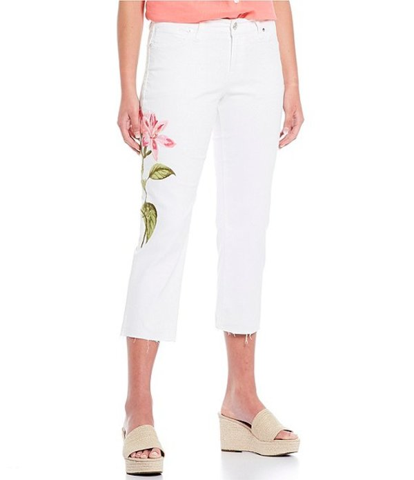 トッミーバハマ レディース デニムパンツ ボトムス Ella Twill Floret Crop Slim Boyfriend Jeans White