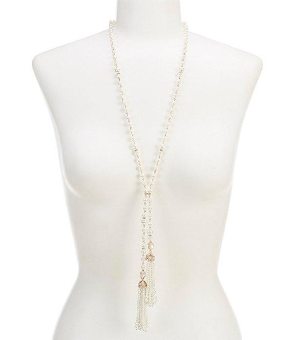 アンクライン レディース ネックレス・チョーカー アクセサリー Pearl Lariat Necklace Gold