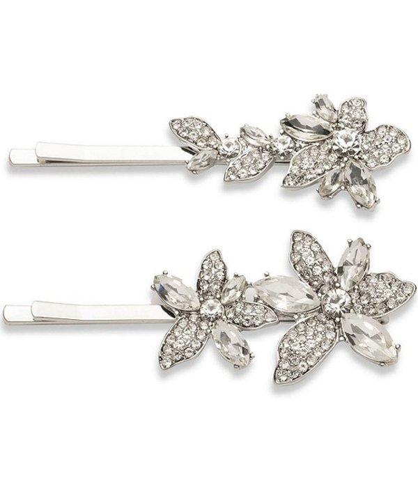 ジバンシー レディース 帽子 アクセサリー Crystal Flower Bobby Pin Set Rhodium