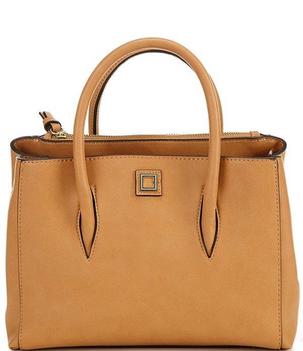 ジャンビニ レディース ハンドバッグ バッグ Mallory Medium Satchel Bag Camel