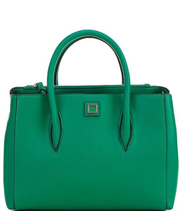 ジャンビニ レディース ハンドバッグ バッグ Mallory Medium Satchel Bag Green