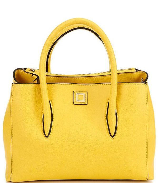 ジャンビニ レディース ハンドバッグ バッグ Mallory Medium Satchel Bag Yellow