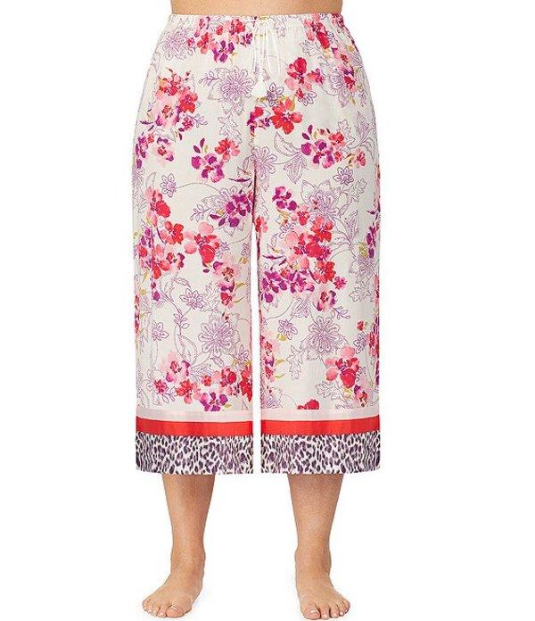 ケンジー レディース カジュアルパンツ ボトムス Plus Floral-Print Wide-Leg Cropped Sleep Pants White/Floral