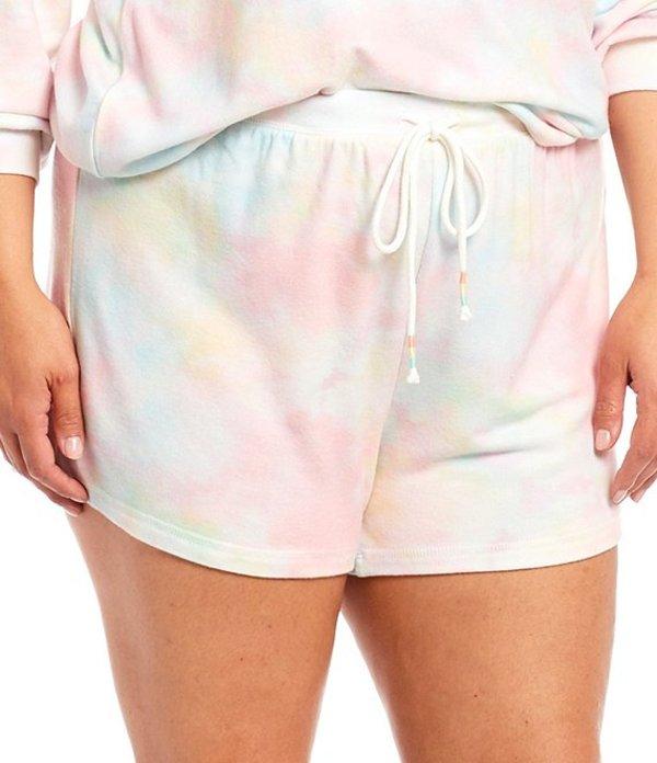 ピージェイサルベージ レディース ハーフパンツ・ショーツ ボトムス Plus Rainbow Tie-Dye Jersey Sleep Shorts Multi