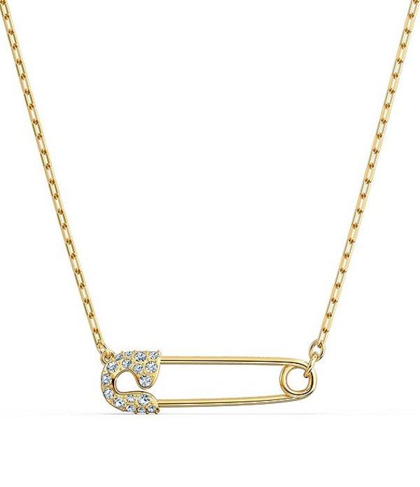 スワロフスキー レディース ネックレス・チョーカー アクセサリー So Cool Pin Short Pendant Necklace Gold
