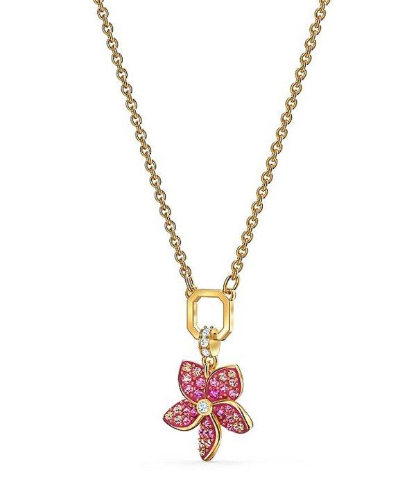 スワロフスキー レディース ネックレス・チョーカー アクセサリー Tropical Flower Pendant Necklace Multicolor
