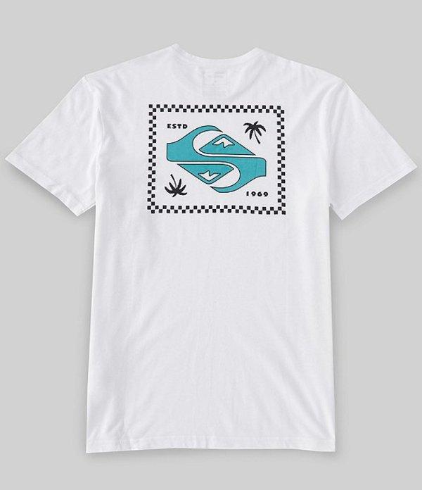 クイックシルバー メンズ シャツ トップス Garden Of Delight Short-Sleeve T-Shirt White