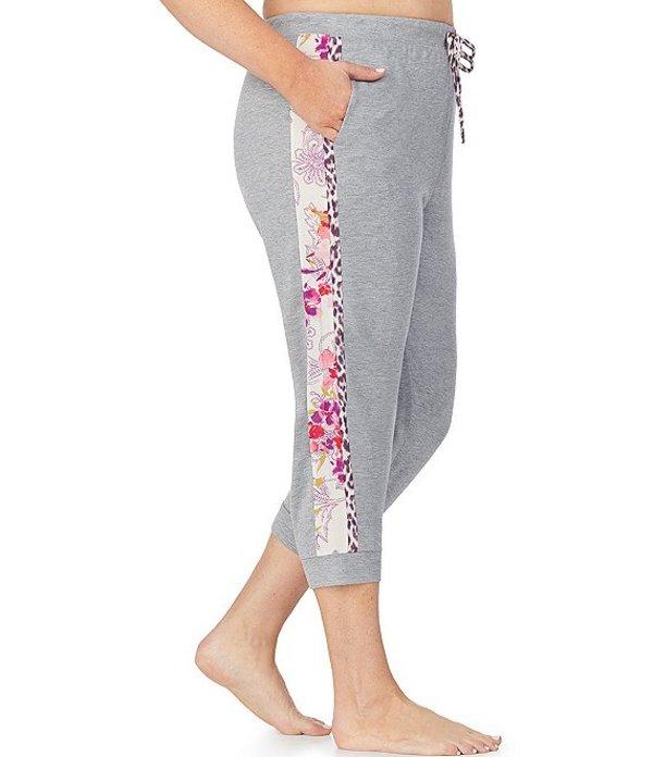 ケンジー レディース カジュアルパンツ ボトムス Plus Jersey Knit Cropped Jogger Sleep Pants Grey Heather