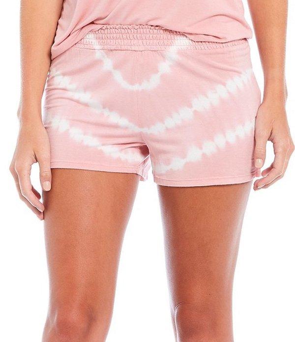 ピージェイサルベージ レディース ハーフパンツ・ショーツ ボトムス Tie-Dye Jersey Knit Sleep Shorts Rose