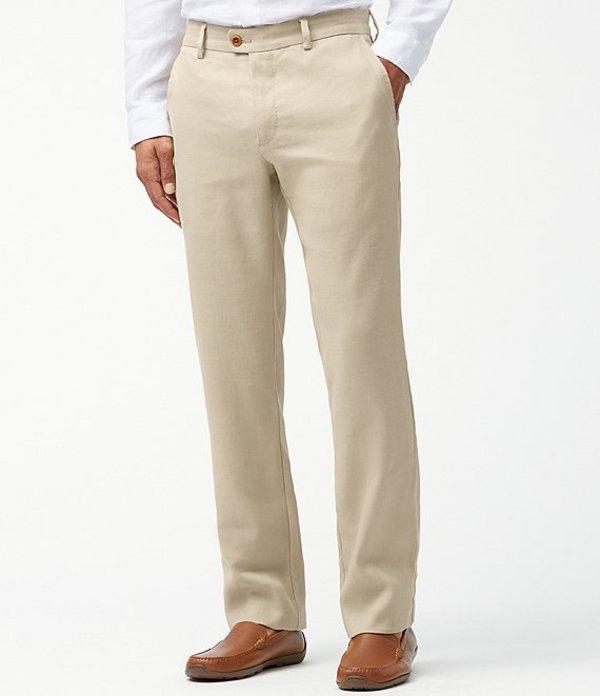 トッミーバハマ メンズ カジュアルパンツ ボトムス Mahalo Bay Flat-Front Pants Stone Khaki