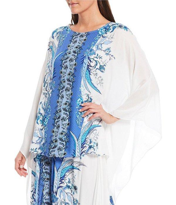 レバ レディース シャツ トップス Printed Woven Jacquard Long Sleeve Kimono Top Multi