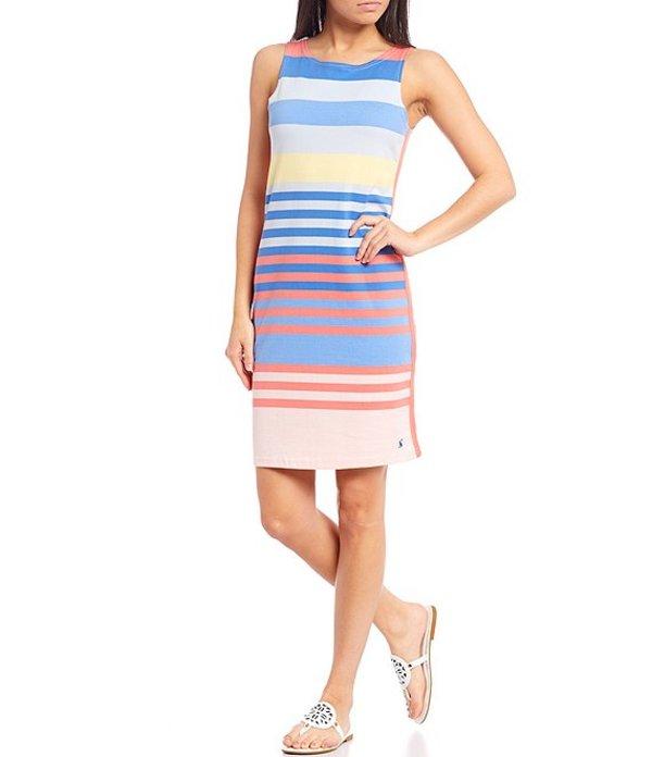 ジュールズ レディース ワンピース トップス Riva Multi Stripe Cotton Knit Jersey Sleeveless Sheath Dress Blue Multi Stripe