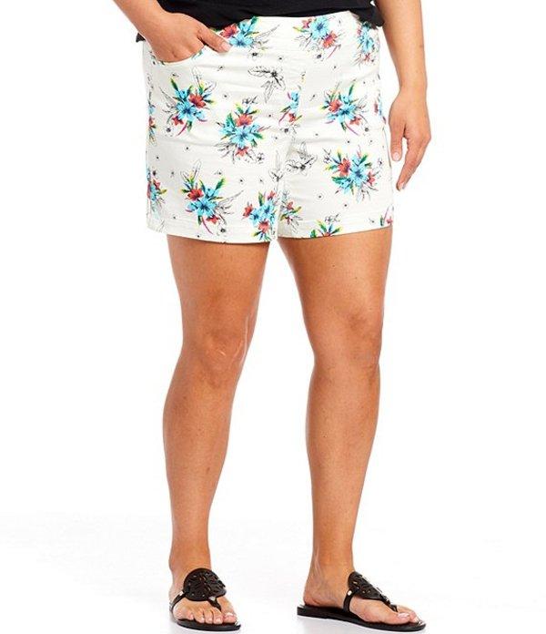 ウエストバウンド レディース ハーフパンツ・ショーツ ボトムス Plus Size the PARK AVE fit Floral Shorts Tropical Floral
