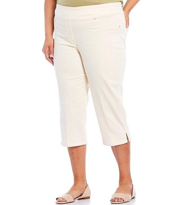 ルビーアールディー レディース カジュアルパンツ ボトムス Plus Size Stretch Denim Pull-On Capri Pant Canvas
