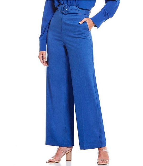 ルーシーパリ レディース カジュアルパンツ ボトムス Belted Wide Leg Pant Blue