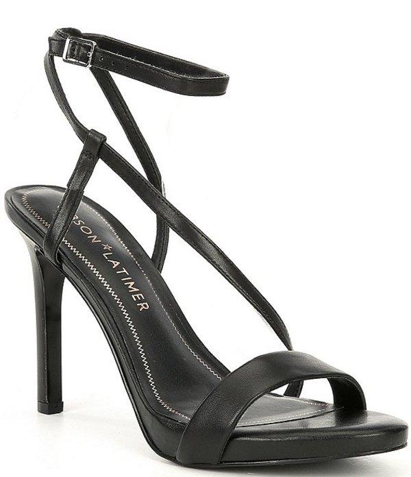ギブソンアンドラティマー レディース サンダル シューズ Briley Leather Asymmetrical Stiletto Dress Sandals Black