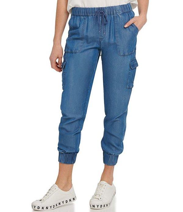 ダナ キャラン ニューヨーク レディース デニムパンツ ボトムス Jeans Chambray Denim Cargo-Pocket Pull-On Jogger Pants Spring Indigo