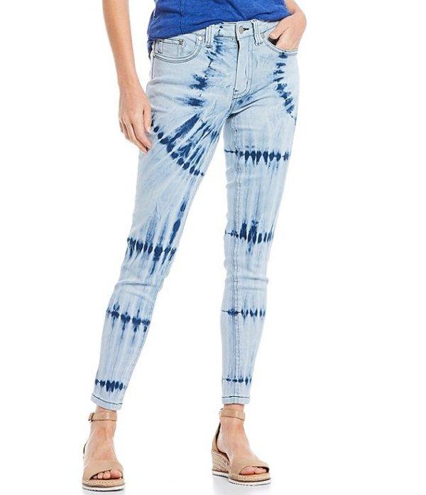 レバ レディース デニムパンツ ボトムス Tie-Dye Mid-Rise Straight Leg Jean Tie Dye