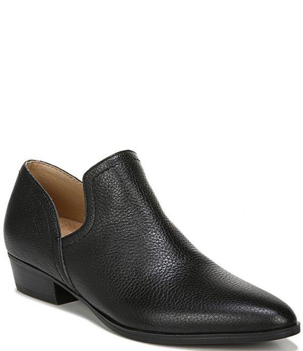 ナチュライザー レディース ブーツ・レインブーツ シューズ Belinda Leather Block Heel Shooties Black Leather