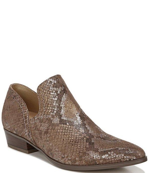 ナチュライザー レディース ブーツ・レインブーツ シューズ Belinda Snake Print Leather Block Heel Shooties Chestnut Snake