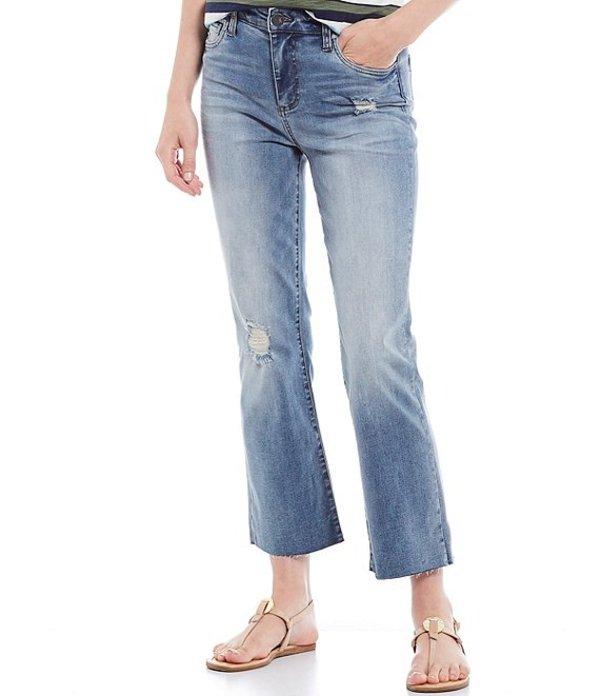 カットフロムザクロス レディース デニムパンツ ボトムス Kelsey High Rise Flare Leg Raw Hem Ankle Jeans Accrued