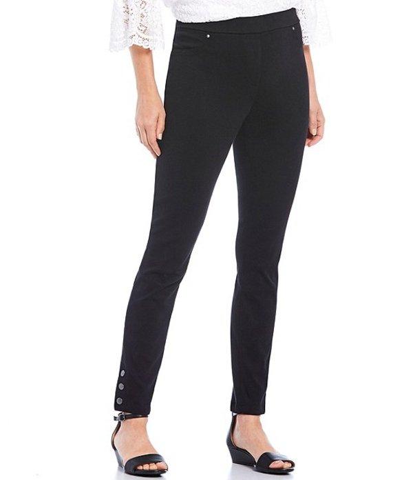 ルビーアールディー レディース カジュアルパンツ ボトムス Petite Size Knitted Twill Pull-On Snap Hem Detail Pants Black