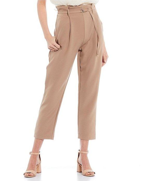 ブルーペッペーブルーペッパー レディース カジュアルパンツ ボトムス Paperbag Waist Self-Tie Pants Tan