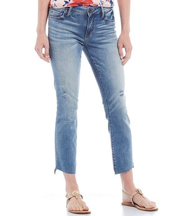 カットフロムザクロス レディース デニムパンツ ボトムス Reese Slant Raw Hem Straight Leg Crop Jeans Efficiency