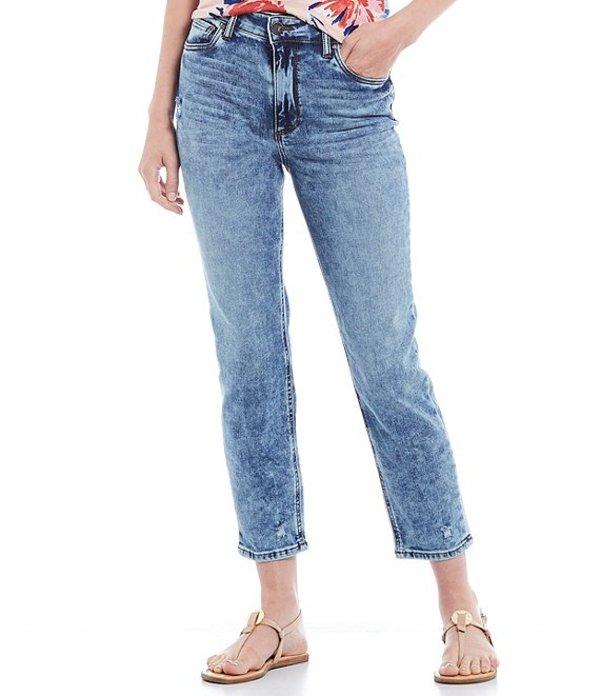 カットフロムザクロス レディース デニムパンツ ボトムス Naomi Straight Leg Mid Rise Girlfriend Ankle Jeans Colorful