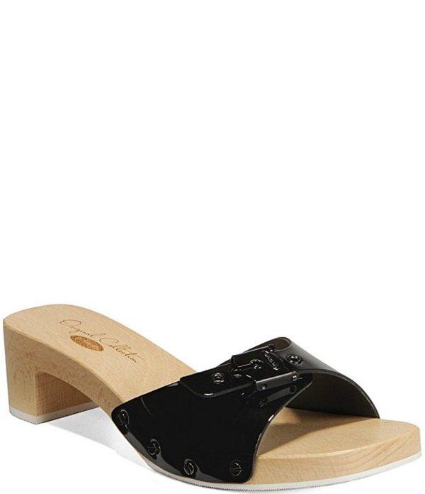 ドクターショール レディース サンダル シューズ Original Mix Patent Leather Sandals Black