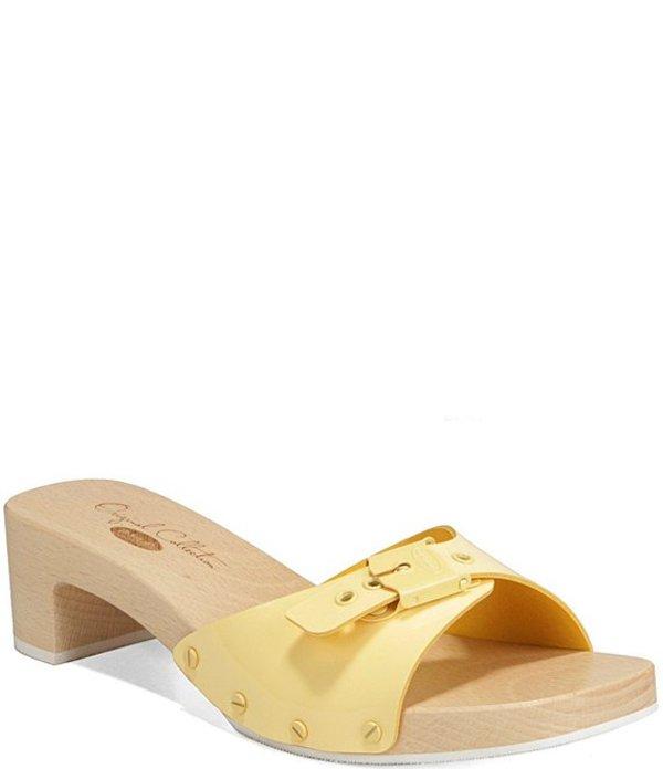 ドクターショール レディース サンダル シューズ Original Mix Patent Leather Sandals Yellow