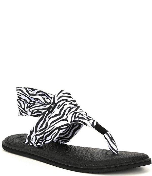 サヌーク レディース サンダル シューズ Yoga Sling 2 Zebra Print Sandals Zebra