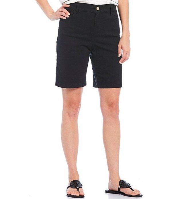カルバンクライン レディース ハーフパンツ・ショーツ ボトムス Stretch Cotton Twill Bermuda Shorts Black
