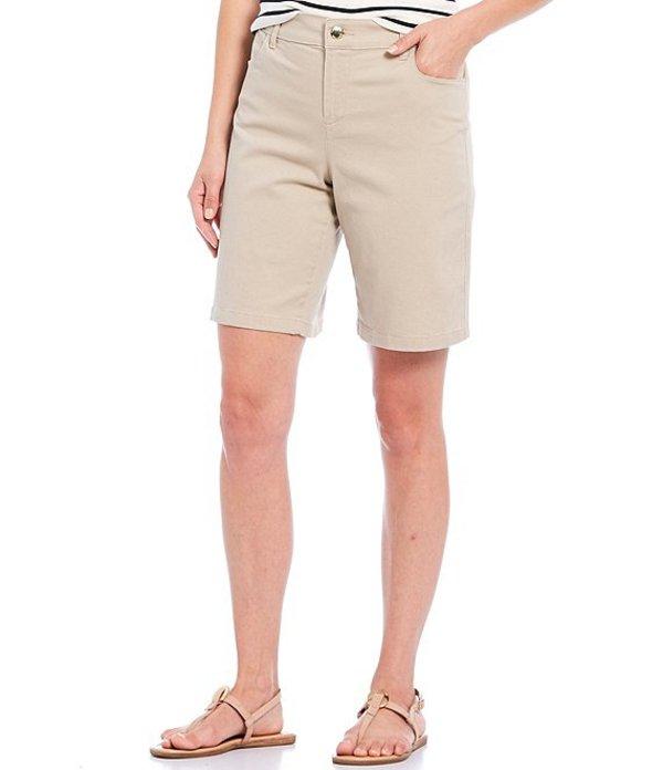 カルバンクライン レディース ハーフパンツ・ショーツ ボトムス Stretch Cotton Twill Bermuda Shorts Sand