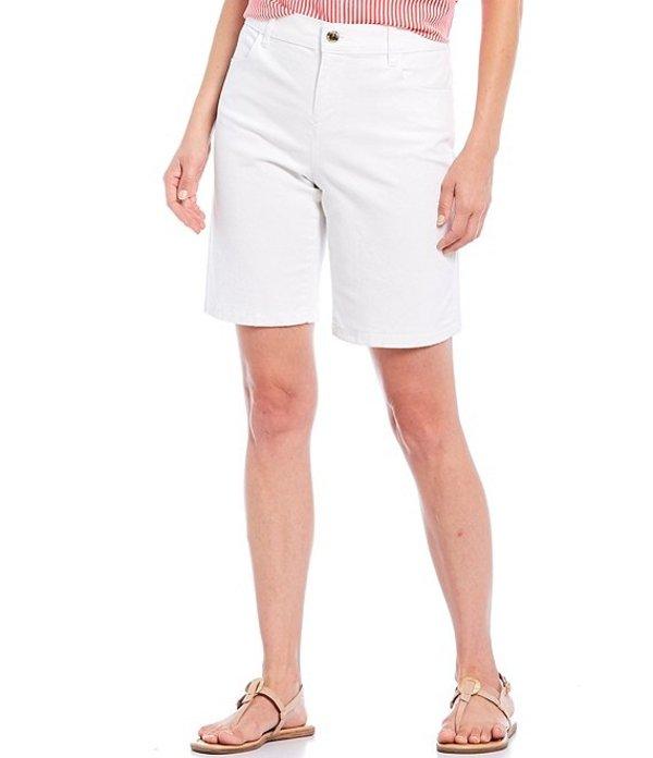 カルバンクライン レディース ハーフパンツ・ショーツ ボトムス Stretch Cotton Twill Bermuda Shorts Soft White