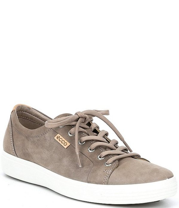 エコー メンズ ドレスシューズ シューズ Men's Soft VII Leather Sneakers Warm Grey Powder