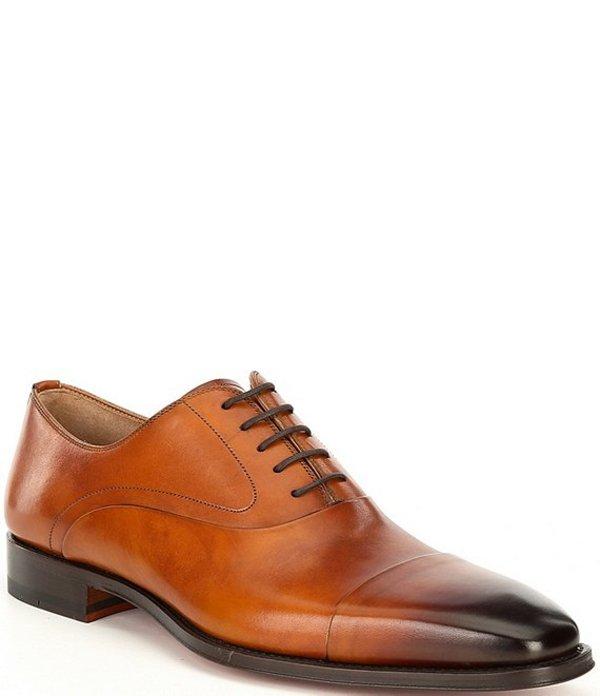 マグナーニ メンズ ドレスシューズ シューズ Men's Saffron Cap Toe Leather Oxfords Cuero