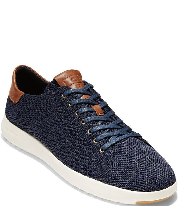 コールハーン メンズ ドレスシューズ シューズ Men's GrandPro Tennis Stitchlite? Sneakers Navy/British Tan