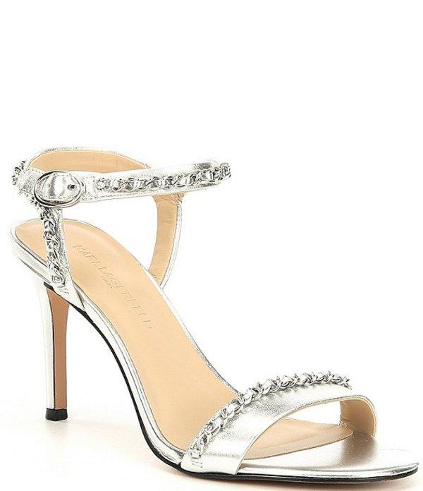 Chain Dress Leather カール サンダル Sandals Daisy レディース Metallic シューズ Silver ラガーフェルド