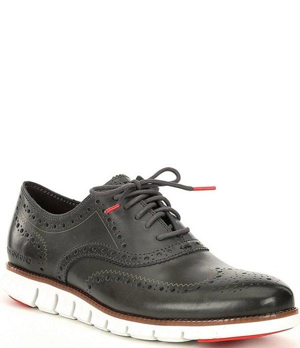コールハーン メンズ ドレスシューズ シューズ Men's ZEROGRAND Wingtip Leather Oxfords Gray Pinstripe