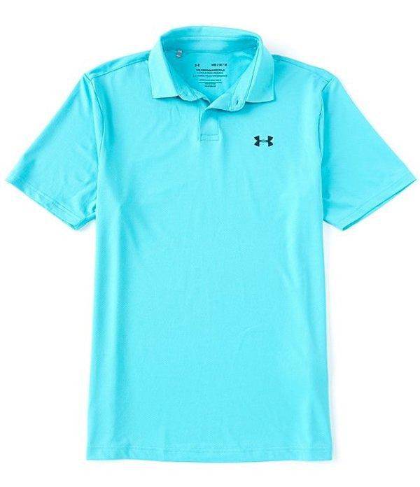 アンダーアーマー メンズ シャツ トップス Loose Golf Short-Sleeve Performance Polo 2.0 Radial Turquoise